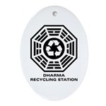 DHARMA Recycling Station Ornament (Oval)