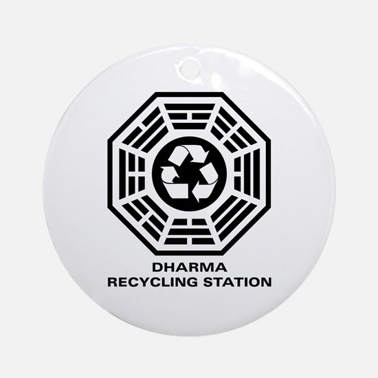 DHARMA Recycling Station Ornament (Round)