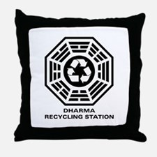 DHARMA Recycling Station Throw Pillow