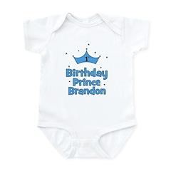 1st Birthday Prince BRANDON! Infant Bodysuit