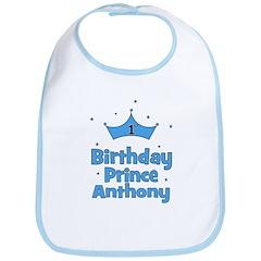 1st Birthday Prince ANTHONY! Bib