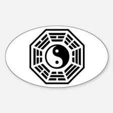 LOST DHARMA Yin Yang Sticker (Oval)