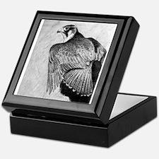 Cute Peregrine falcon Keepsake Box