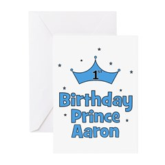 1st Birthday Prince AARON! Greeting Cards (Pk of 1