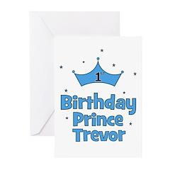 1st Birthday Prince TREVOR! Greeting Cards (Pk of