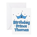 1st Birthday Prince THOMAS! Greeting Cards (Pk of