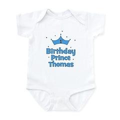 1st Birthday Prince THOMAS! Infant Bodysuit