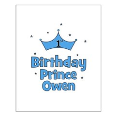 1st Birthday Prince OWEN! Posters