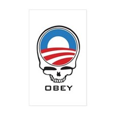 Obey Obama Skull Decal