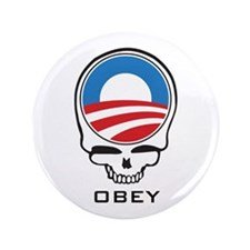 """Obey Obama Skull 3.5"""" Button (100 pack)"""