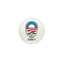 Obey Obama Skull Mini Button (10 pack)