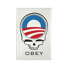 Obey Obama Skull Rectangle Magnet