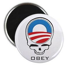 """Obey Obama Skull 2.25"""" Magnet (100 pack)"""