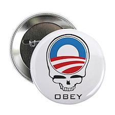 "Obey Obama Skull 2.25"" Button"