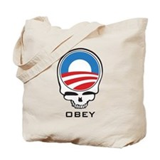 Obey Obama Skull Tote Bag