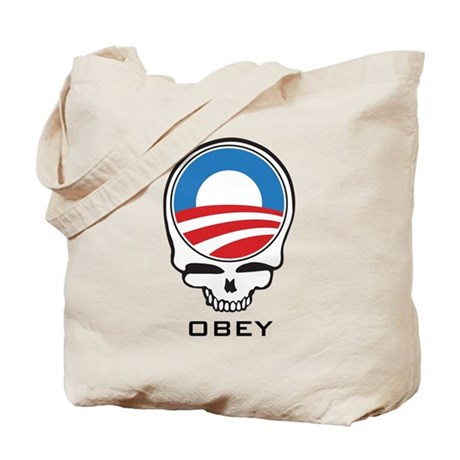 Obey Obama Skull Tote Bag