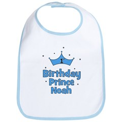 1st Birthday Prince NOAH! Bib