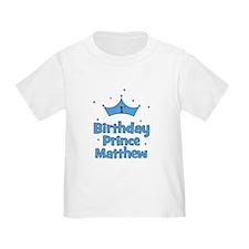 1st Birthday Prince MATTHEW! T