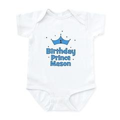 1st Birthday Prince MASON! Infant Bodysuit