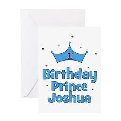1st Birthday Prince JOSHUA! Greeting Card