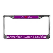 Purple We Love Our American Water Spaniels Frame