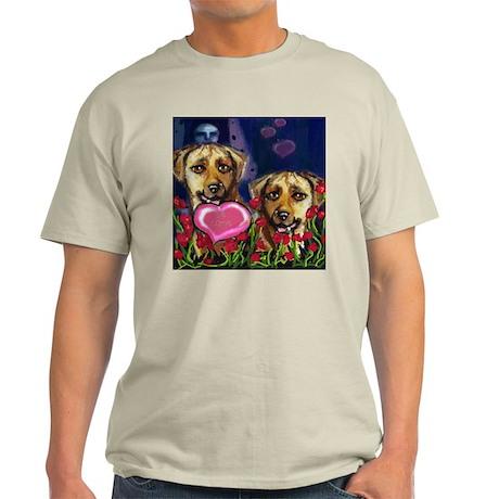 RHODESIAN RIDGEBACK Valentine Ash Grey T-Shirt
