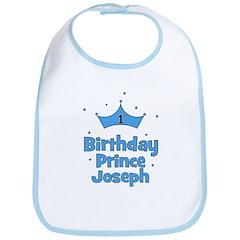 1st Birthday Prince JOSEPH! Bib