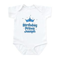 1st Birthday Prince JOSEPH! Infant Bodysuit