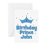 1st Birthday Prince JOHN! Greeting Cards (Pk of 10