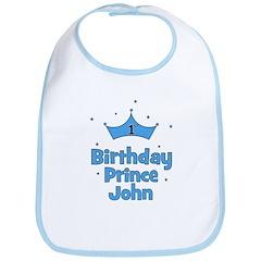 1st Birthday Prince JOHN! Bib