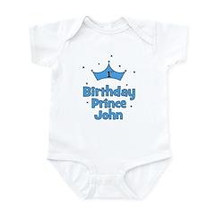 1st Birthday Prince JOHN! Infant Bodysuit