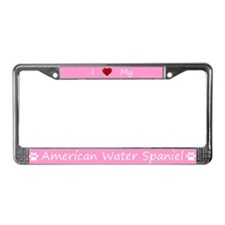 Pink I Love My American Water Spaniel Frame