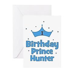 1st Birthday Prince HUNTER! Greeting Cards (Pk of