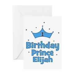 1st Birthday Prince ELIJAH! Greeting Card
