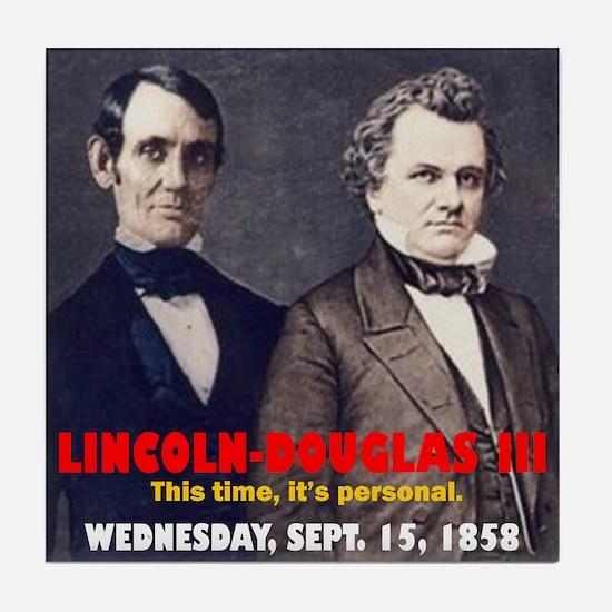 Lincoln-Douglas Debate Tile Coaster