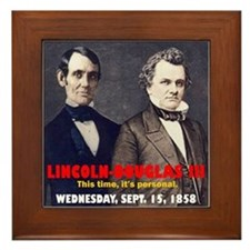 Lincoln-Douglas Debate Framed Tile