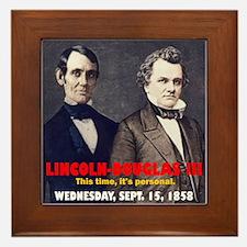 Lincoln-Douglas Debate Framed Tile
