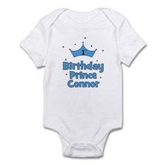 1st Birthday Prince CONNOR! Infant Bodysuit