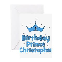 1st Birthday Prince CHRISTOPH Greeting Card