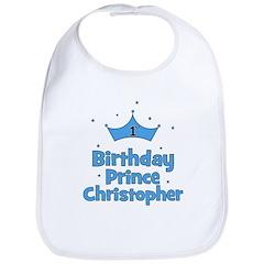 1st Birthday Prince CHRISTOPH Bib