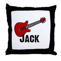Guitar - Jack Throw Pillow