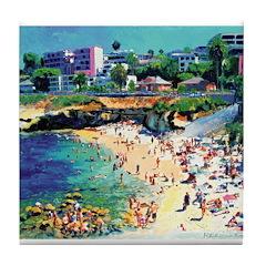 La Jolla Cove Beach Tile Coaster