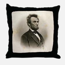 Abraham Lincoln Sepia Portrait Throw Pillow
