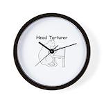 Head Torturer Wall Clock