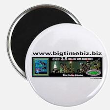 "www.bigtimebiz.biz Logo 2.25"" Magnet (10 pack)"