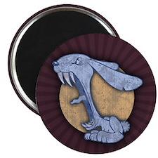 Blue Evil Bunny Magnet
