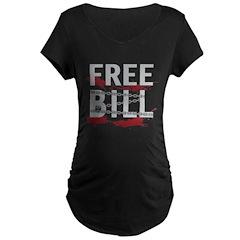 freebillblack Maternity T-Shirt