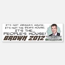 Scott Brown Anti Obama Sticker (Bumper)
