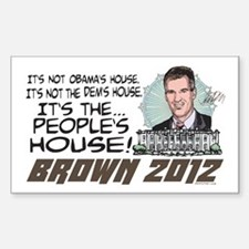 Scott Brown Anti Obama Sticker (Rectangle)