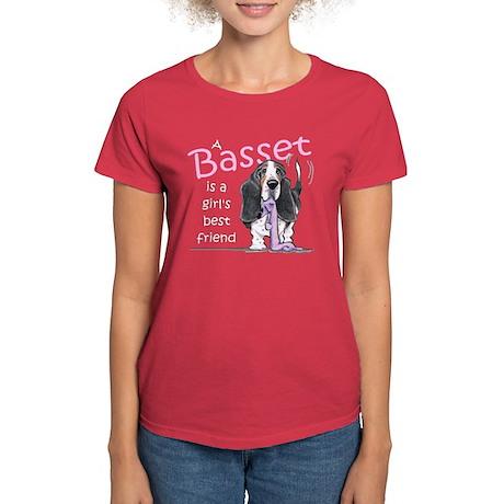 Basset Girls Friend Women's Dark T-Shirt